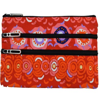 Balarinji Aboriginal Art - 3Z Cosmetic Bag - Desert Sun