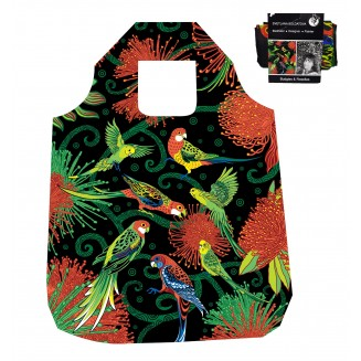 Fold-Up Bag - Australian Birds 2 - Budgies & Rosellas