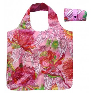 Fold-Up Bag - Australian Wildflowers - Pink