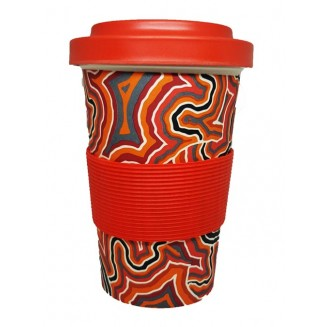 hogarth | arts - Eco bamboo Reusable Cup - Pathways 2