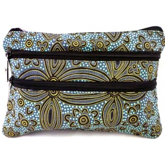 Yijan Aboriginal Art - 3Z Cosmetic Bag - Women -17 Blue