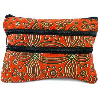 Yijan Aboriginal Art - 3Z Cosmetic Bag - Women -17 Red