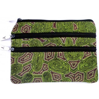 Yijan Aboriginal Art - 3Z Cosmetic Bag -  Women's Travelling Dreaming -  6