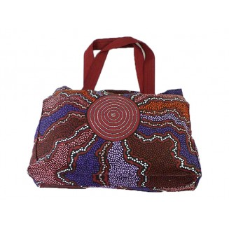Yijan Aboriginal Art - Canvas Bag - Fire & Water - 10