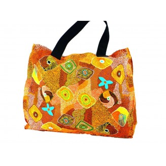 Yijan Aboriginal Art - Canvas Bag - Swamp Turtle Country - 15