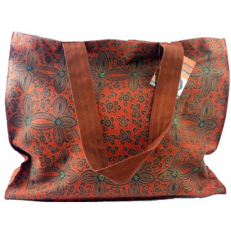 Yijan Aboriginal Art - Canvas Bag - Women's Ceremony at Yuelamu Red - 17