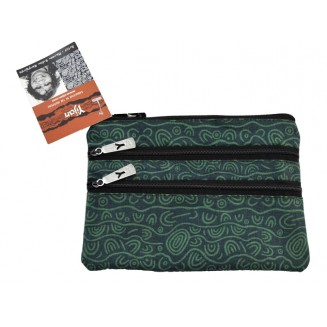 Yijan Aboriginal Art - 3Z Cosmetic Bag - Women -18 Green