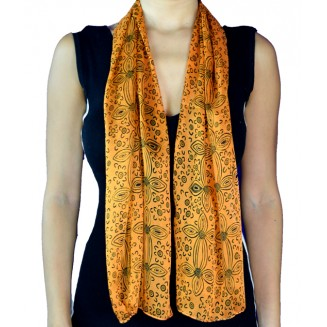 Yijan Aboriginal Art - Scarf - Women - 17 Orange
