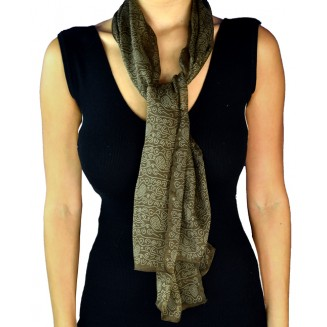 YI-SCARF-18BROWN